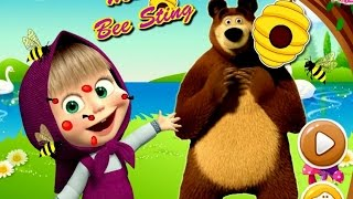 masha c b siu quậy v ch gấu xiếc masha bị ong rừng đốt