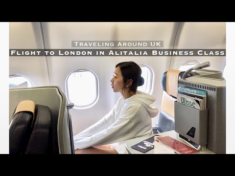Traveling around UK | Prologue. Flight to London in Alitalia Business Class