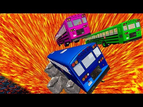 BeamNG drive - School Bus Crashes & Jumps #23