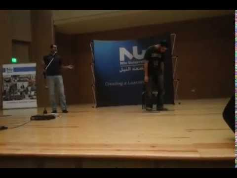 Nile University - Talent Show - Ahmed Fouad with the assistance of Nader Abdelkader - Standup Comedy