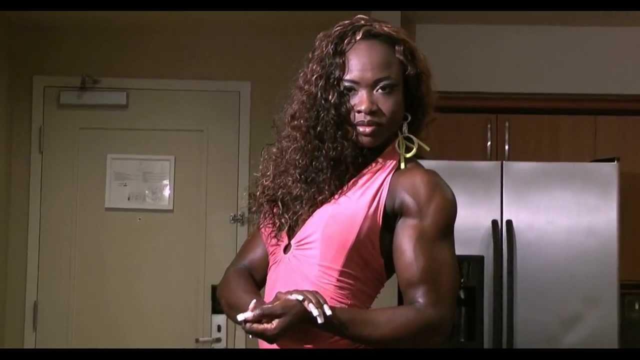 Monique Has Massive Muscles Black Female Bodybuilder -1324