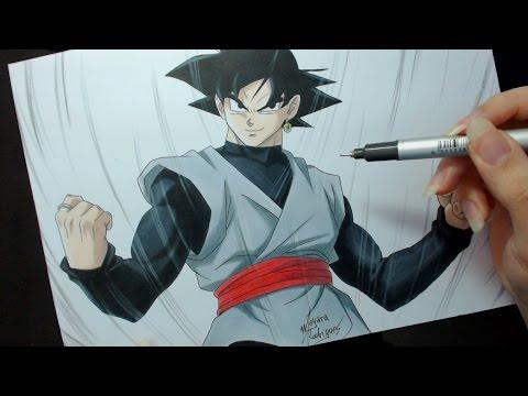Speed Drawing - Black Goku (Dragon Ball Super)