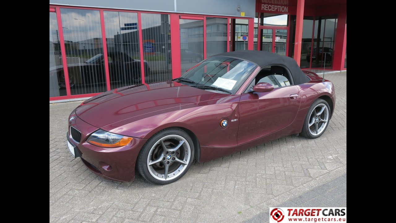750382 Bmw Z4 Roadster 2 5l Cabrio 192hp 09 03 Darkred 109707mil Rhd