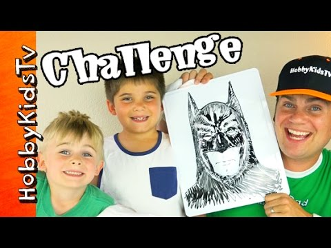 Twisted Boards BATMAN CHALLENGE with Dry Erase 3D Boards