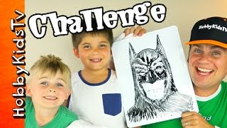 Twisted Boards BATMAN CHALLENGE! Hulk + Superhero Dry Erase 3D Boards HobbyKidsTV