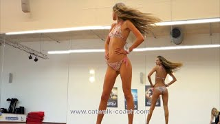 Hot Bikini Catwalk With Model Luisa