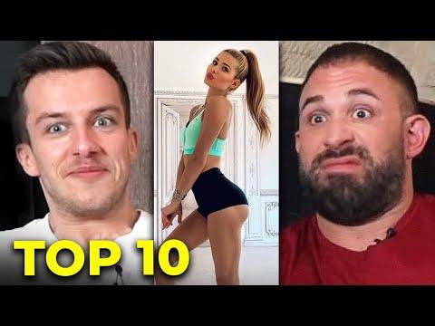 TOP 10 Fitness YouTuberinnen mit @Kevin Wolter bewerten | Tim Gabel