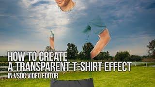 Lifehack: erstellen Sie eine transparente T-shirt-Effekt mit VSDC Video Editor