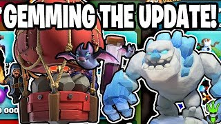 "GEMMING THE UPDATE TO GET ICE GOLEMS, STONE SLAMMERS, AND BAT SPELLS! - ""Clash of Clans"""