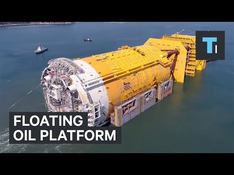 This mammoth structure keeps oil platforms afloat