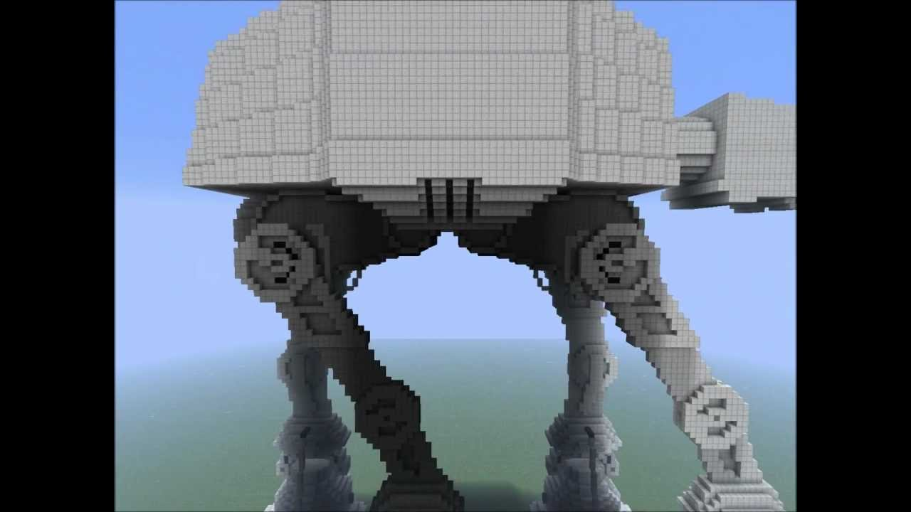 Minecraft At At The Imperial Walker Download Youtube