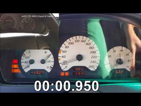 C230 TURBO vs C55 AMG w202 Acceleration 0-100kmh Mercedes m111 190 km/h mph 60 wastegate blow off