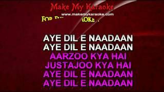 Karaoke Aye Dil E Nadaan - Razia Sultan - Lata Mangeshkar