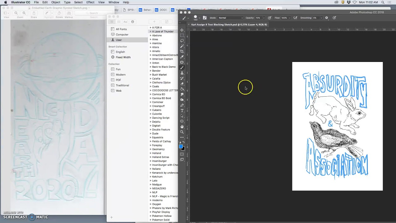 2 Downloading Typefaces from Dafont and Using the Type Tool in Illustrator