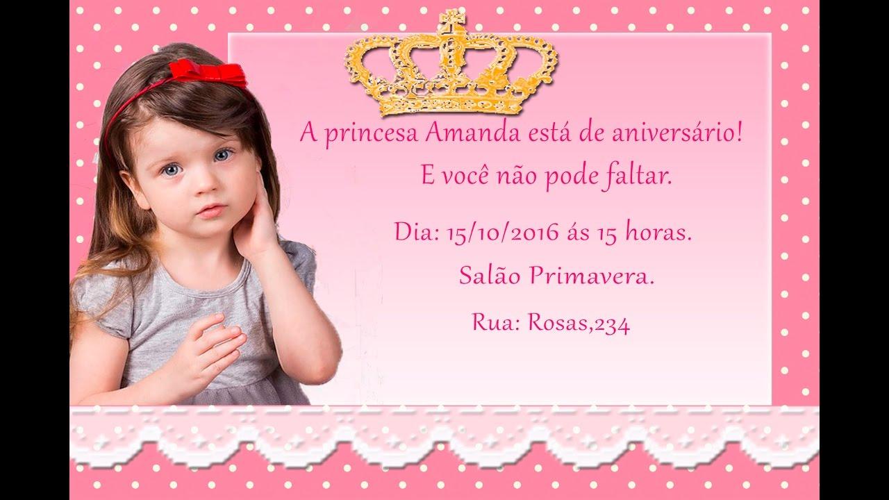 Convite De Aniversario De 15 Anos: COMO FAZER CONVITE DE ANIVERSÁRIO COROA NO WORD. ️