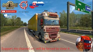 Euro Truck Simulator 2 (1.36)   DAF XF 105 by Stanley 1.36x Delivery in Slovakia SVK MAP by KimiSlimi Version v22 Krone Megaliner Ownable Trailer DLC by Sogard3 and SCS Software + DLc's & Mods  Support me please thanks Support me economically at the mail