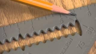 "Johnson 7"" Johnny Square® Professional Aluminum Rafter Square"
