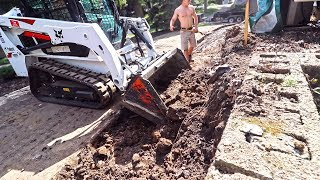 TEARING DOWN & BUILDING A NEW RETAINING WALL- START TO FINISH   SUNDAY FUNDAY!