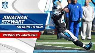 Jonathan Stewart's 60-Yd TD Run Set Up by Daryl Worley's INT!   Vikings vs. Panthers   NFL Wk 14 2017 Video
