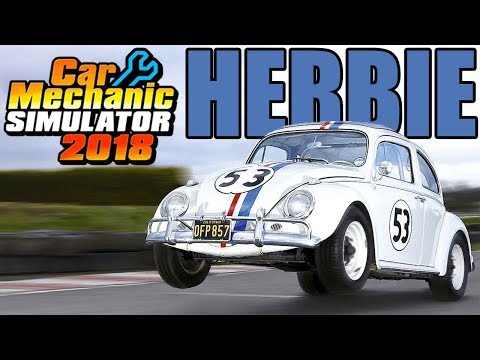 Rebuilding Herbie the Love Bug! - Volkswagon Beetle - Car Mechanic Simulator 2018 Gameplay