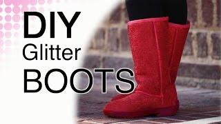 Diy Glitter Boots