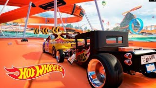 Corrida na Pista Hot Wheels Com Carro Tunado - Andrade Games