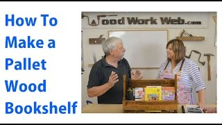 Pallet Furniture Bookshelf -  A Woodworkweb Woodworking Video