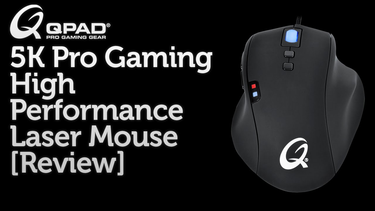 QPAD 5K Pro Gaming Laser Mouse  Review  - YouTube ba1660159449f