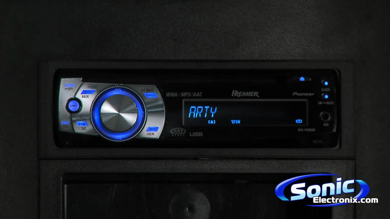 small resolution of pioneer premier deh p400ub single din headunit with ipod playback youtube