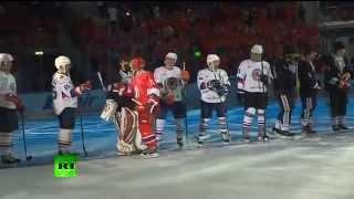 Владимир Путин открыл счет в гала-матче Ночной хоккейной лиги
