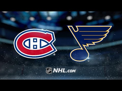Hutton's 33 saves leads Blues to 3-1 win over Habs