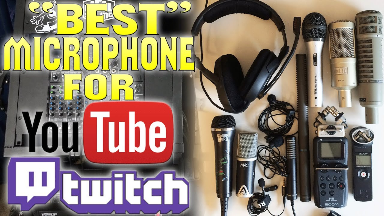 Quot Best Quot Microphone For Youtube Commentaries Twitch