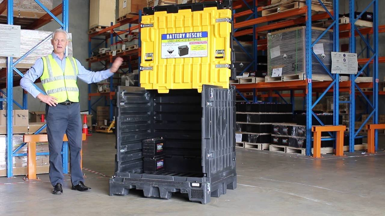 Using The Battery Rescue Pallet For Outdoor Storage Of