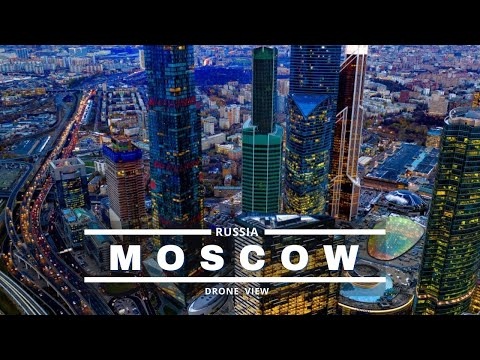 Moscow City Russia by Drone In Ultra HD - Moscow City 2020