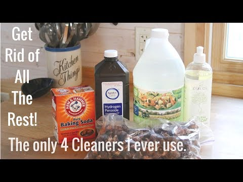 Life in a Tiny House called Fy Nyth - Toss the rest! The only 4 cleaners I use.