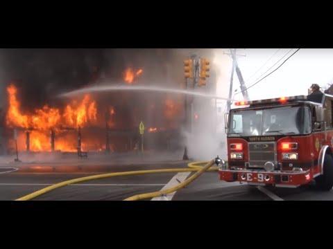 미국 소방관 실제 화재진압 영상