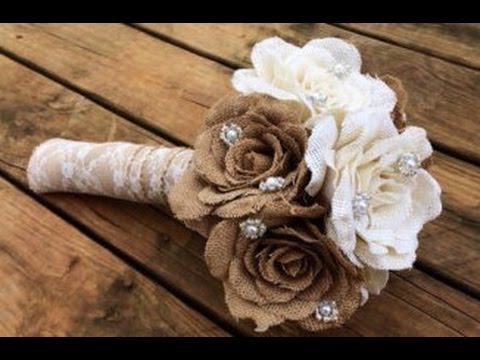 Diy Bridal Bouquet Fake Flowers How To Make