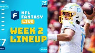 Our Week 2 Lineups!   NFL Fantasy Live screenshot 4