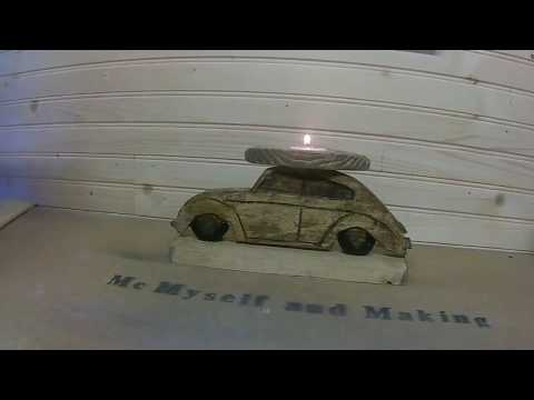 How to Make beetle car bug candle cheap and easy rustic
