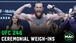 UFC 246 Ceremonial Weigh-Ins: Main Card