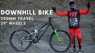 My First Time riḋing a 29er Downhill Bike ! Here is what surprised me.