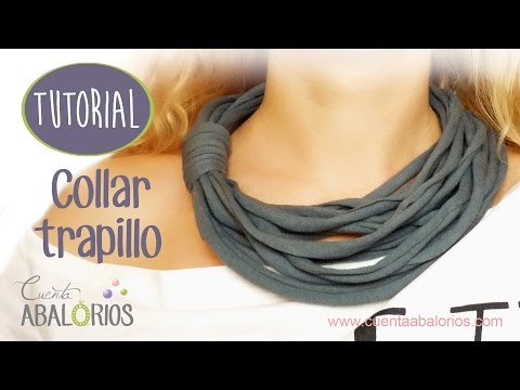 60bff3442830 Como hacer collar de trapillo sin cadena - YouTube