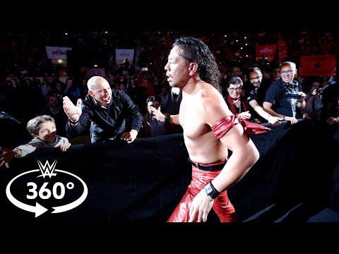 See Shinsuke Nakamura's entrance at WWE Live in Lisbon in 360 degrees