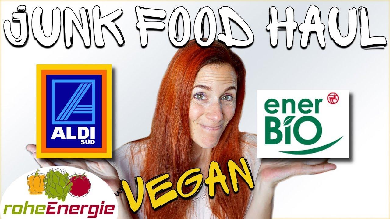 Vegan Junk Food Haul.  Aldi Süd & Rossmann