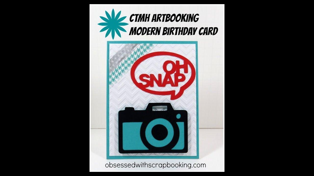 Close To My Heart Artbooking Cricut Camera Birthday Card