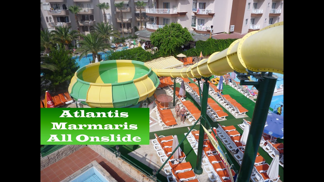 all onslides atlantis waterpark marmaris turkey youtube. Black Bedroom Furniture Sets. Home Design Ideas