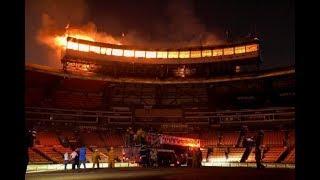 Incendio destruye Séptimo Cielo del Estadio Quisqueya