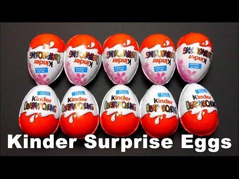 Kinder Surprise Eggs with Toys - Mega Video Compilation