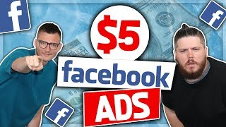 $5 Facebook Ads For Shopify - How to Make Profitable FB Ads Using $5 Ad Sets (MICRO SPLIT TESTING!)
