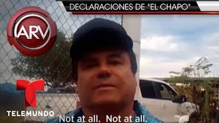 Entrevista de el Chapo Guzmán con Sean Penn- Parte 1 | Al Rojo Vivo | Telemundo